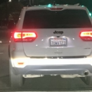 7UWV723 CA License Plate